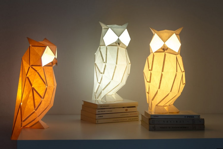 Lampu Origami Burung Hantu