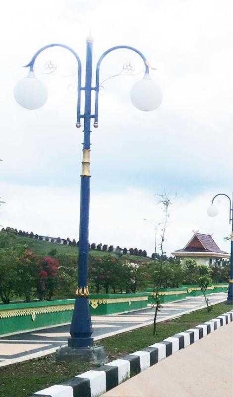 Jual Tiang Lampu Taman Kota Type Bina Praja Indalux Enterprindo