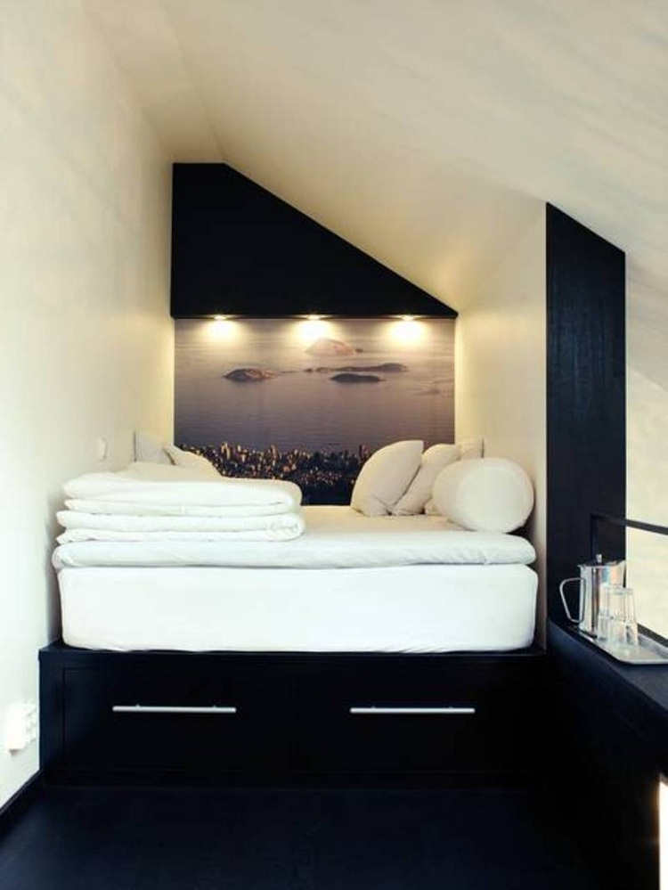 Platform Bed in Small Sleeping Loft