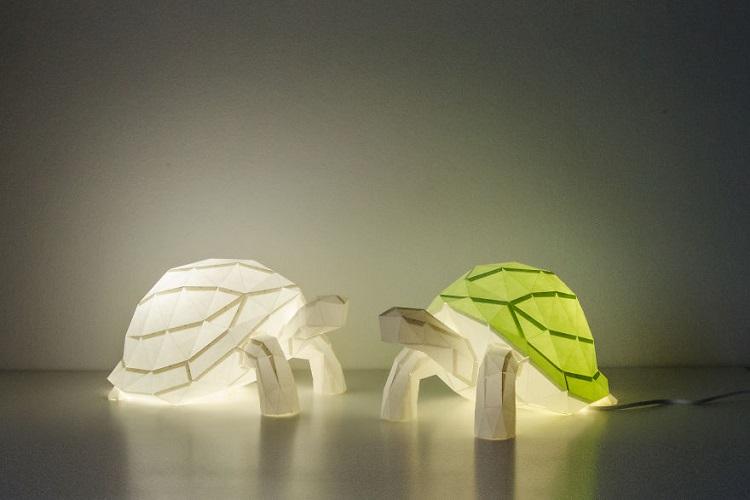 Lampu Origami Kura-Kura