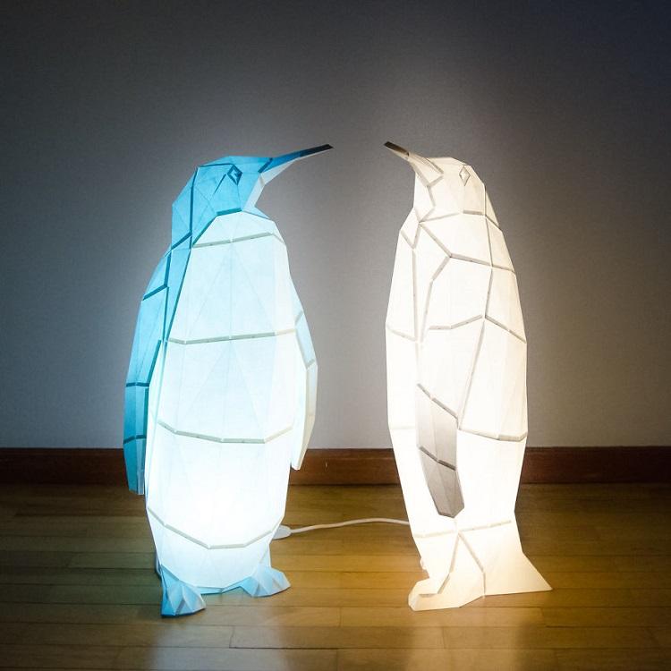 Lampu Origami Penguin